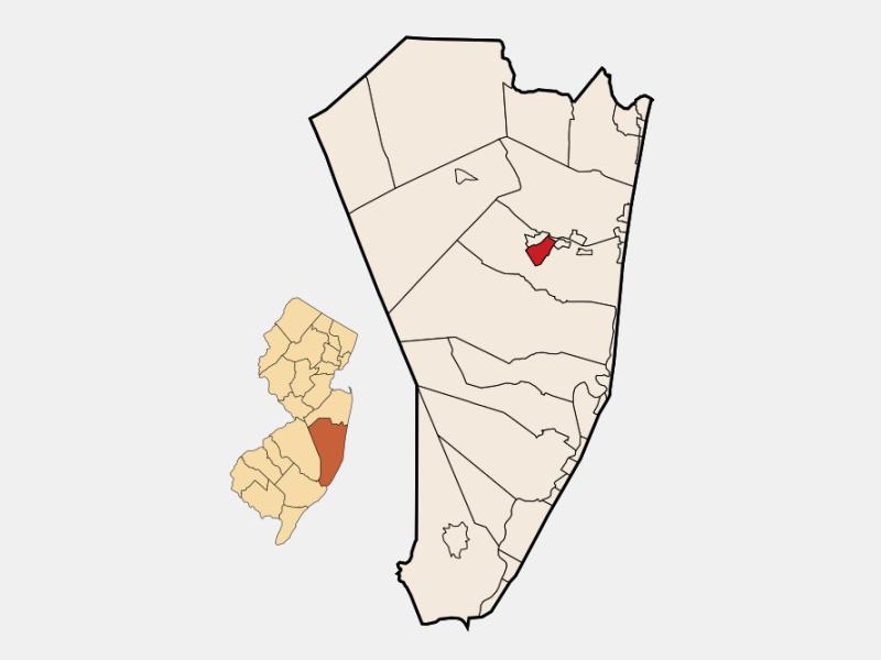 Beachwood, NJ locator map