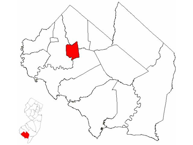 Bridgeton locator map