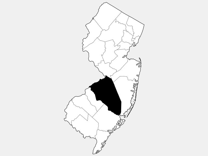 Burlington County locator map