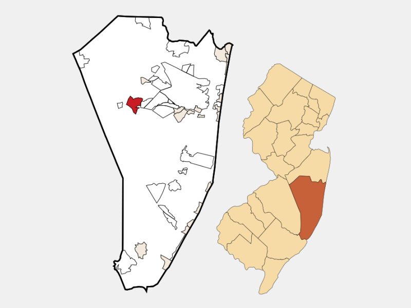Crestwood Village locator map