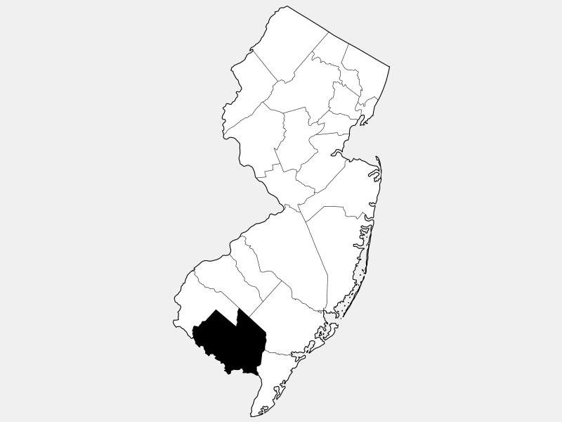 Cumberland County locator map