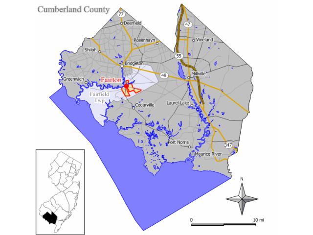 Fairton locator map