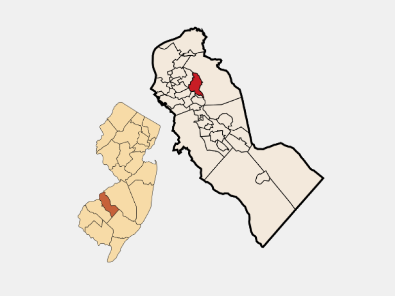 Haddonfield locator map