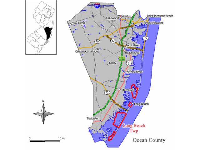 Long Beach locator map