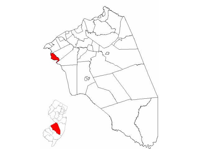 Maple Shade locator map
