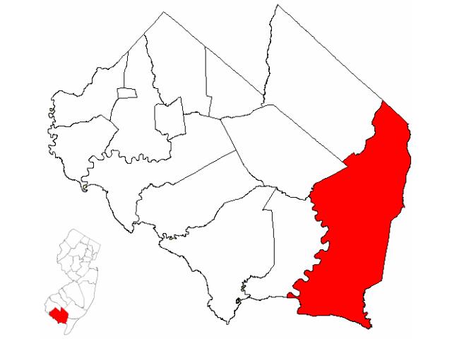 Maurice River locator map