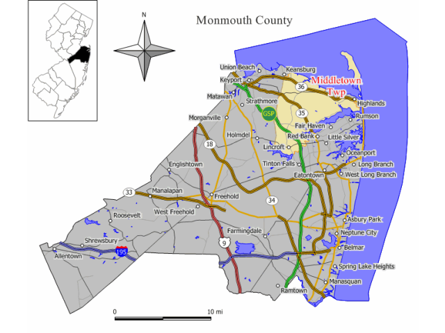 Middletown location map