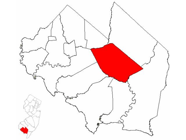 Millville locator map