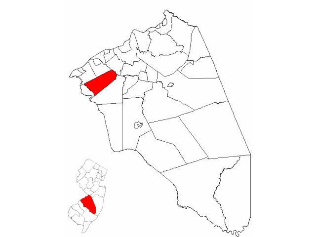 Moorestown locator map