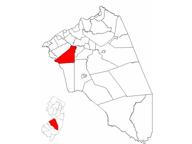 Mount Laurel locator map