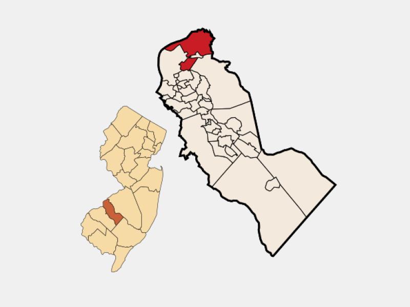 Pennsauken locator map