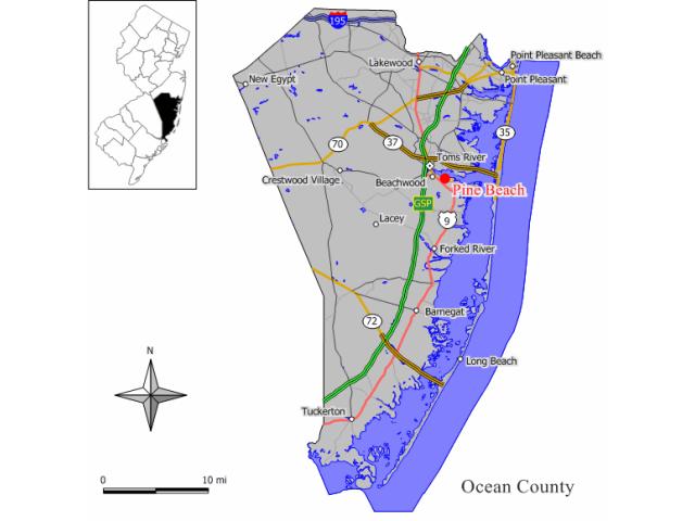Pine Beach, NJ locator map