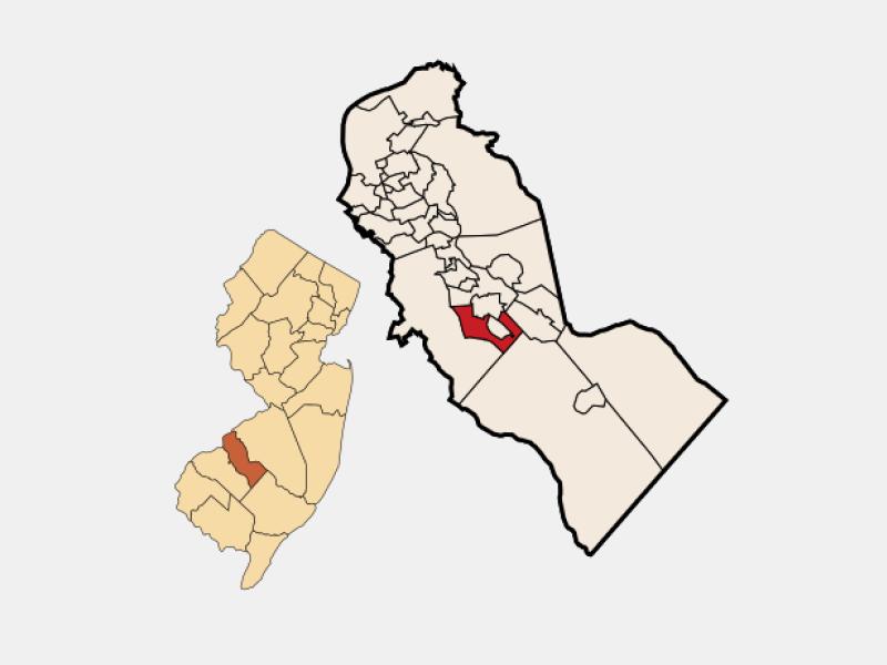 Pine Hill locator map