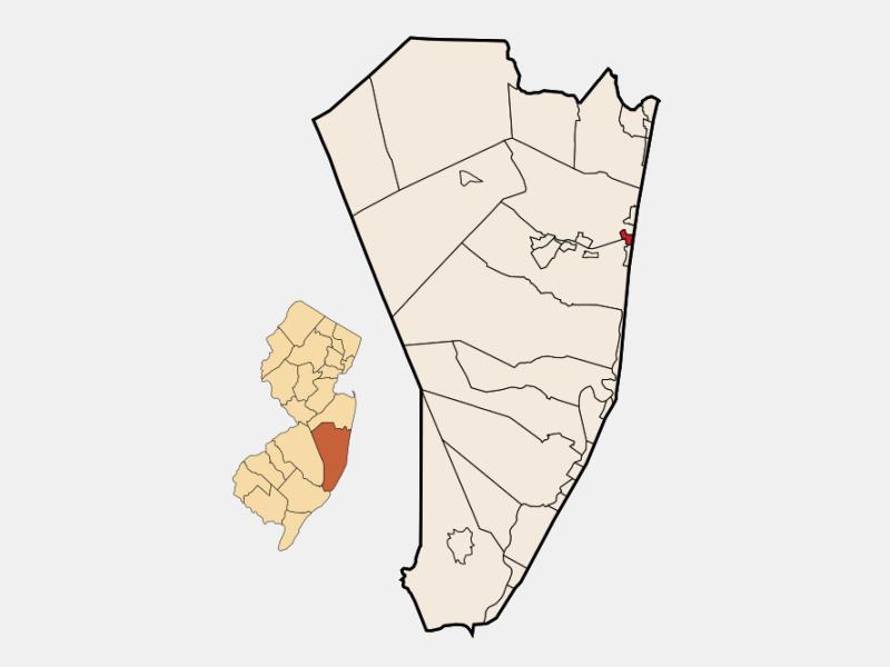 Seaside Heights locator map