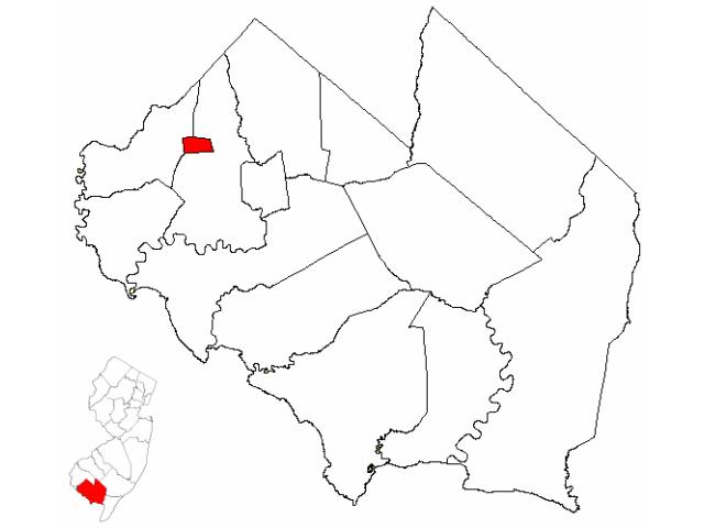 Shiloh locator map