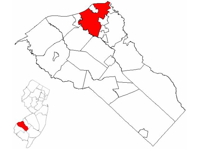 West Deptford Township locator map