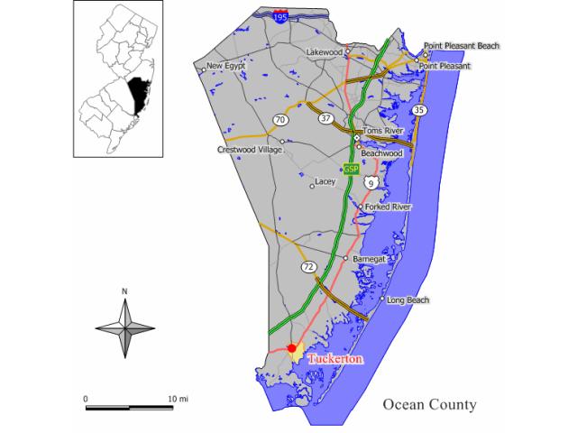 Tuckerton, NJ locator map