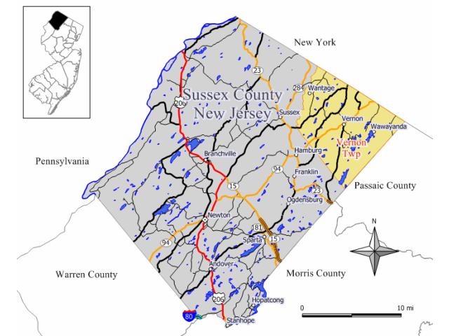 Vernon locator map