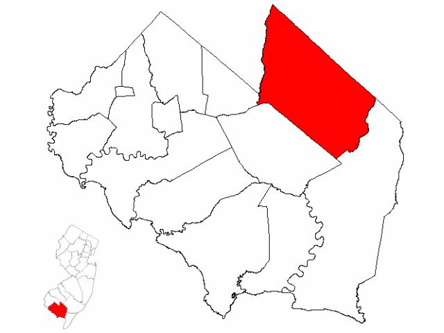 Vineland locator map