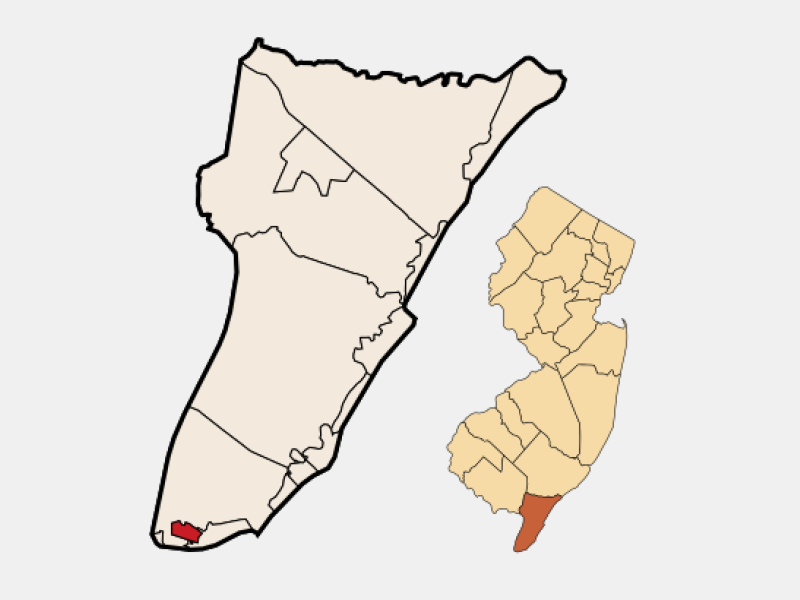 West Cape May location map