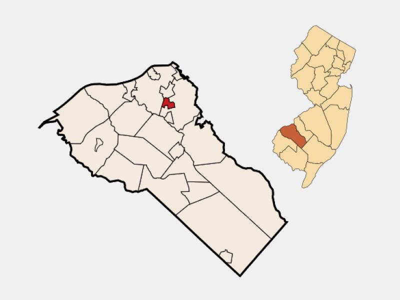 Woodbury Heights locator map
