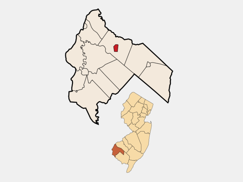 Woodstown location map