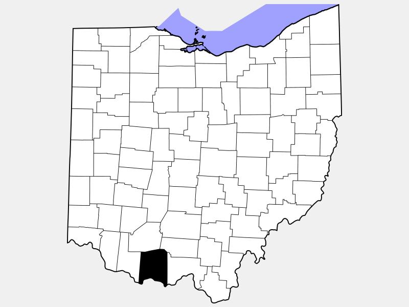 Adams County locator map