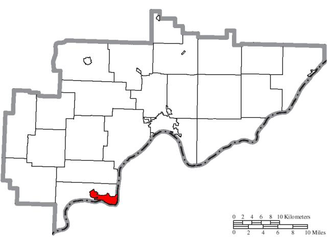 Belpre locator map