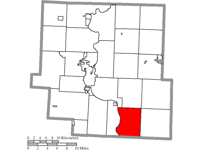 Blue Rock locator map