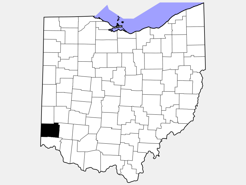 Butler County locator map