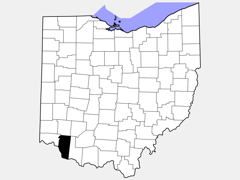 Clermont County locator map