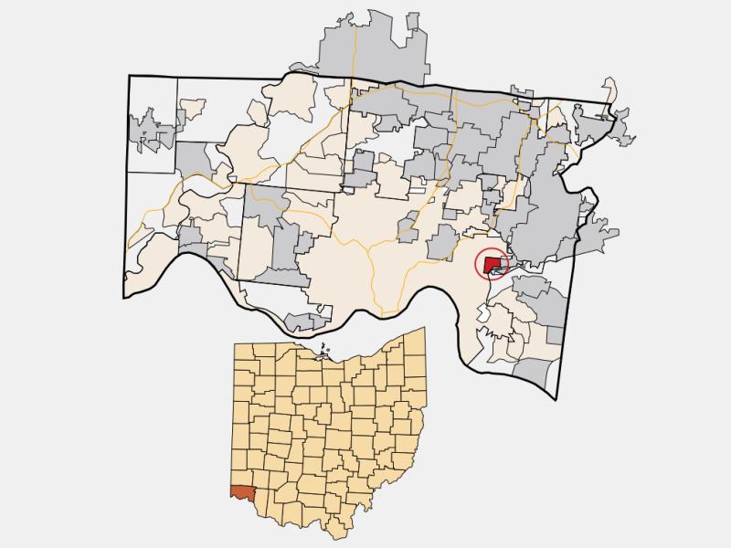 Fairfax locator map