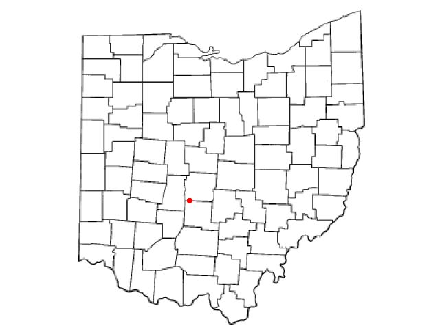 Harrisburg locator map