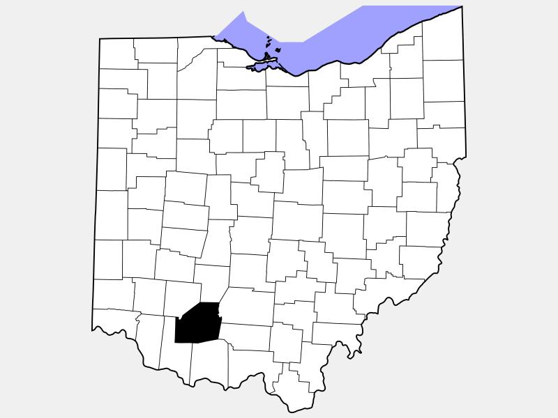 Highland County locator map