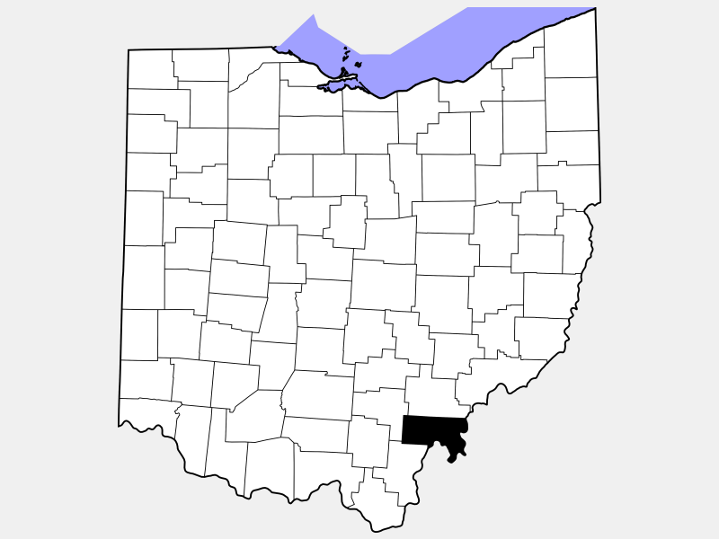 Meigs County location map