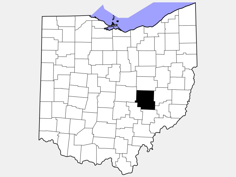 Muskingum County locator map