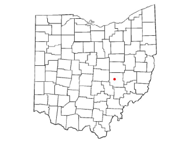 North Zanesville locator map