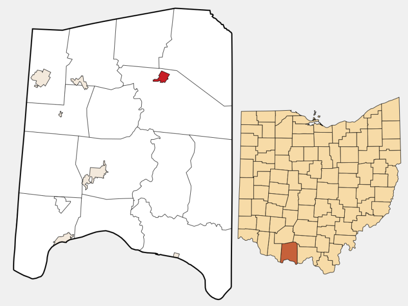 Peebles locator map