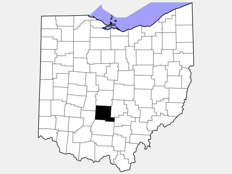 Pickaway County locator map