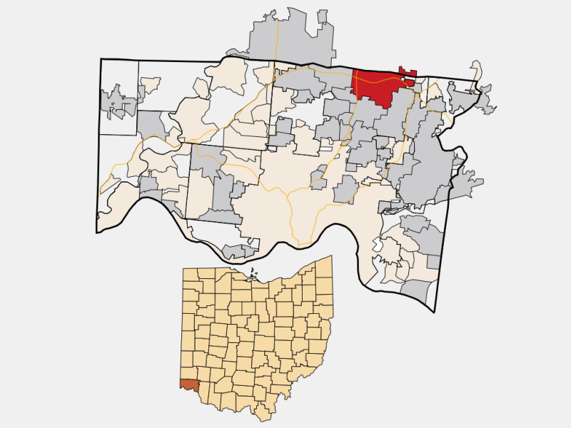 Sharonville locator map