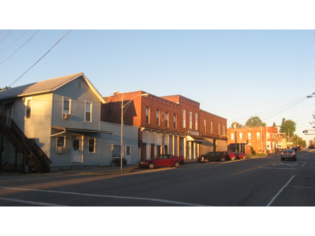 Main east of the railroad in Shiloh image