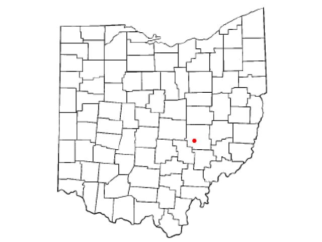 South Zanesville locator map