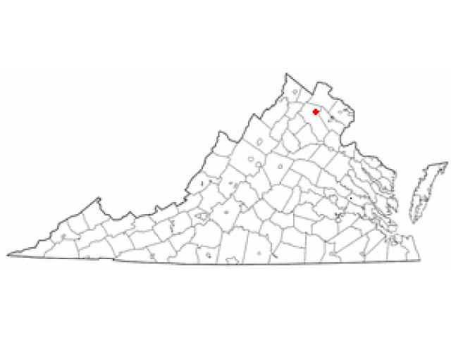 The Plains location map