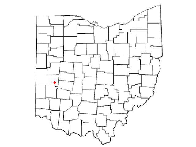 Tipp City locator map
