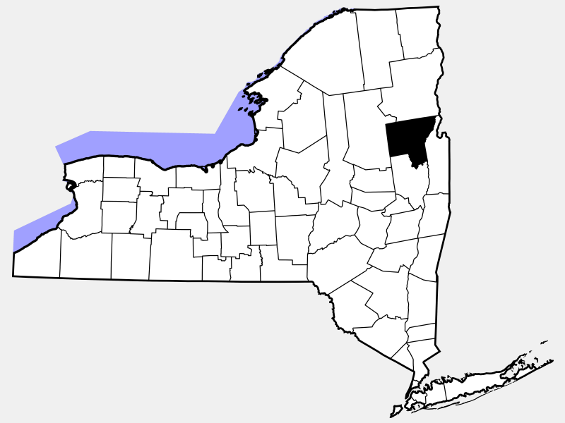 Warren County locator map