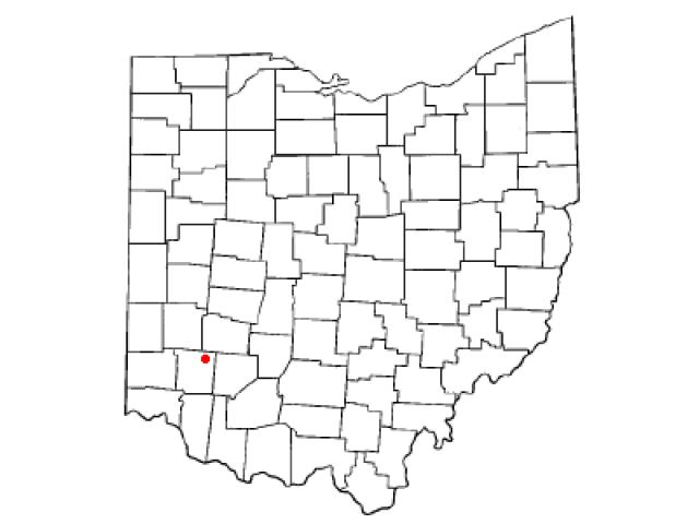 Waynesville locator map