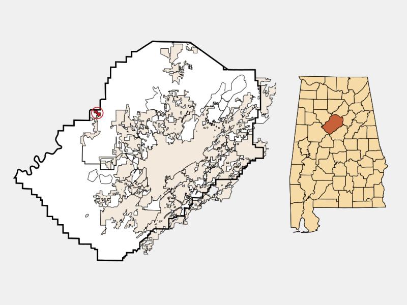 West Jefferson locator map