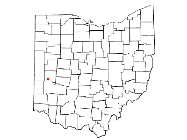 West Milton locator map