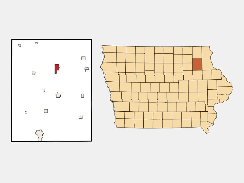 West Union locator map
