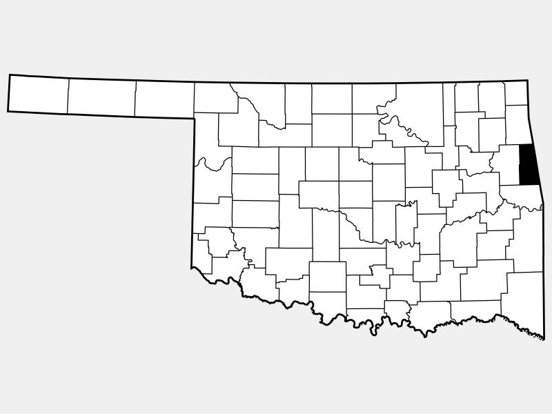 Adair County locator map